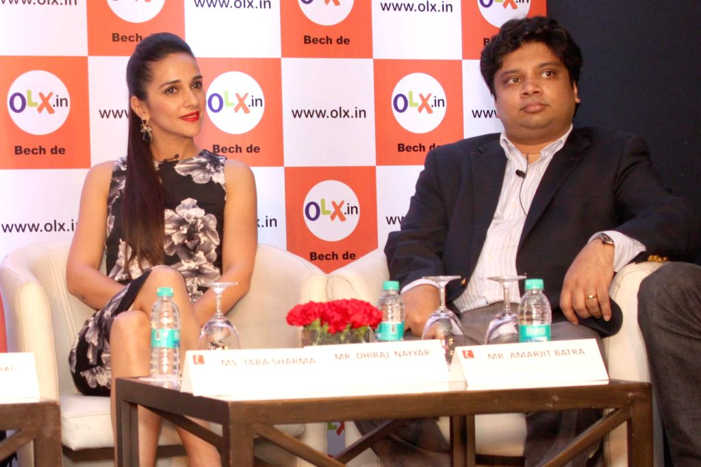 Actress Tara Sharma during a programme organised to announce the 2nd edition of OLX Crust Survey in New Delhi, on Feb 18, 2015.