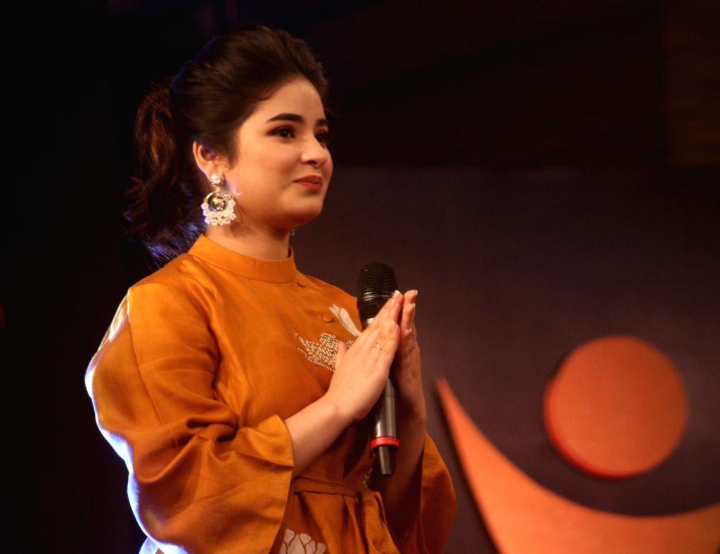"New Delhi: Actress Zaira Wasim during ""Behtar India award ceremony"" in New Delhi, on Dec 5, 2017. (Photo: IANS) - Zaira Wasim"