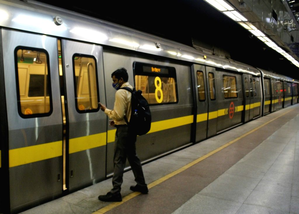 New Delhi: After a gap of over five months, the Delhi Metro Rail Corporation (DMRC) resumed its services on the Yellow Line at 7 a.m. on Sep 7, 2020. It connects Samaypur Badli in Delhi to Gurugram's Huda City Centre and Rapid Metro. The decision del