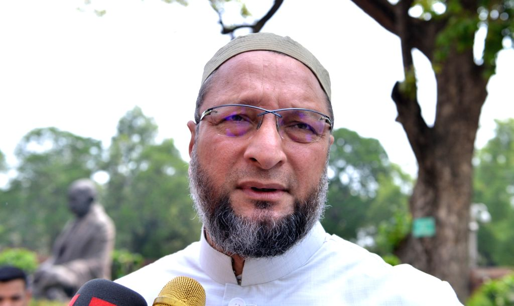 New Delhi: AIMIM chief Asaduddin Owaisi at Parliament in New Delhi on June 26, 2019. (Photo: IANS)
