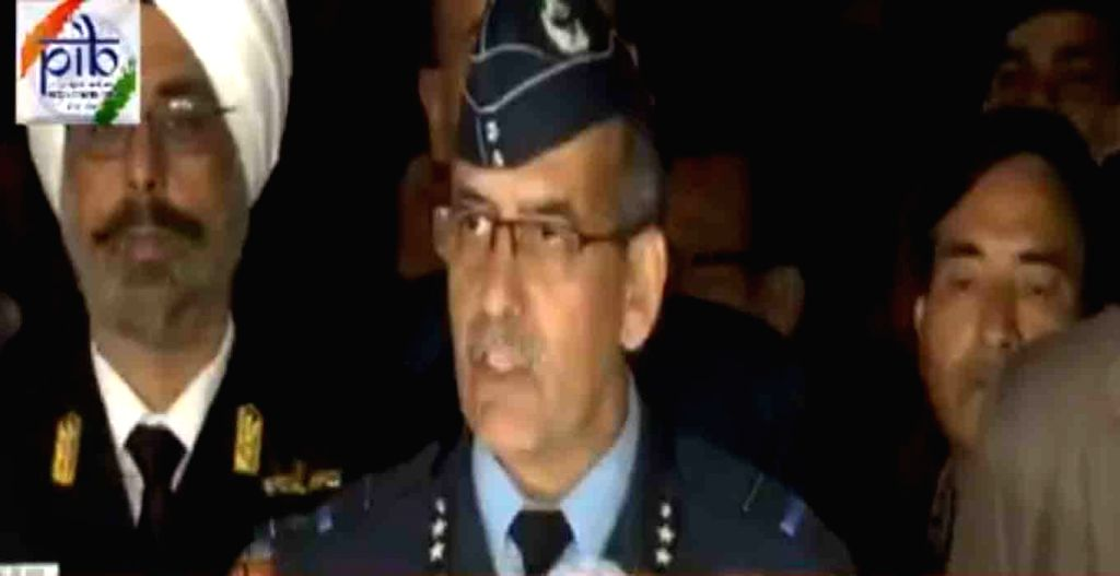 New Delhi: Air Vice Marshal RGK Kapoor during a press briefing in New Delhi on Feb 28, 2019. (Screen Grab: PIB)