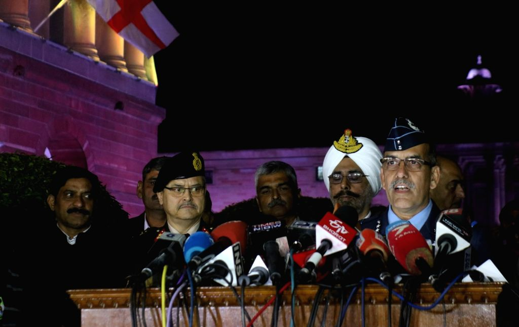New Delhi: Air Vice Marshal RGK Kapoor during a press conference in New Delhi on Feb 28, 2019. (Photo: IANS)