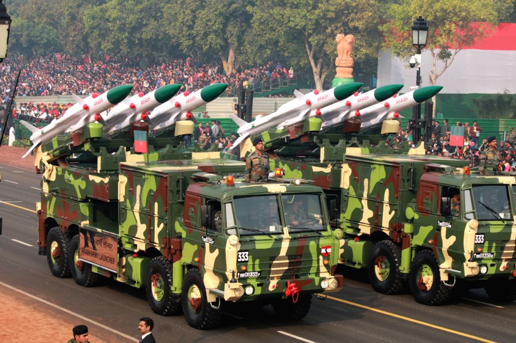New Delhi: Akash Army Launchers during the full dress rehearsals of 2019 Republic Day parade at Rajpath, New Delhi on Jan 23, 2019. (Photo: Amlan Paliwal/IANS)