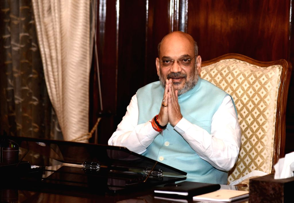 New Delhi: Amit Shah takes charge as the Union Minister for Home Affairs, in New Delhi on June 1, 2019. (Photo: IANS/PIB) - Amit Shah