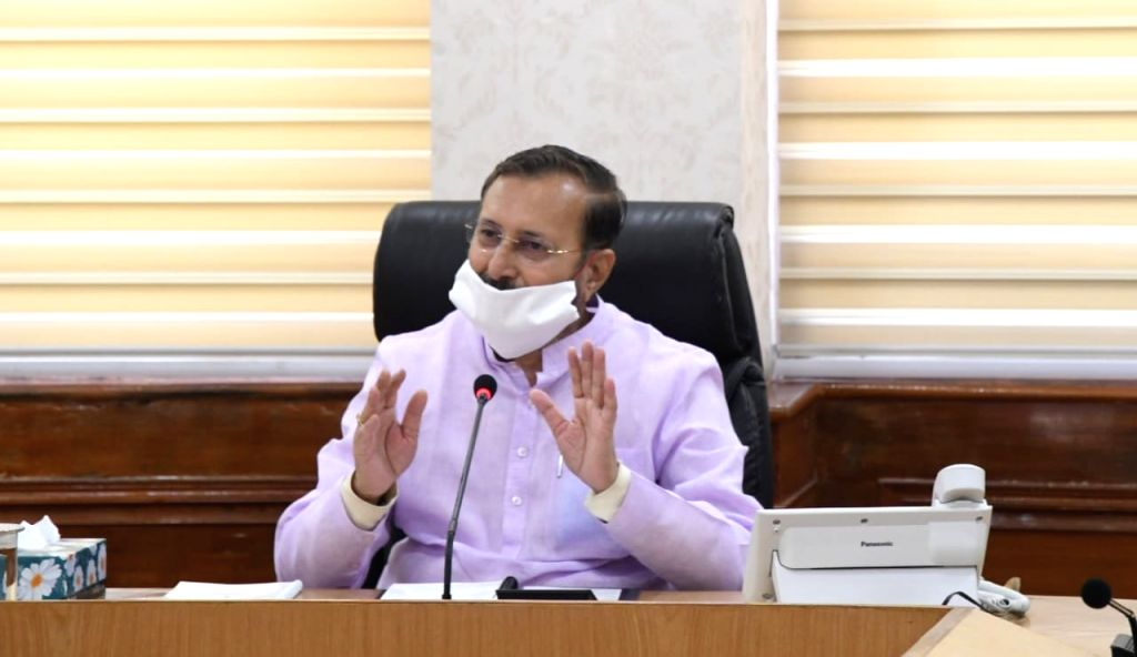 New Delhi, April 13 (IANS) According to the Prime Minister's intructions, all ministers of the Narendra Modi cabinet went back to their ministries on Monday physically, to resume work that was so far being done from home through video conferencing, i - Narendra Modi