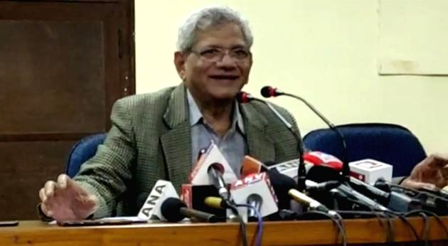 New Delhi, April 13 (IANS) CPI(M) General Secretary Sitaram Yechury, here on Monday, criticised the Centre for not releasing over Rs 30,000 crore in the goods and services tax (GST) dues. At a time when states needed funds to fight the Covid-19 pande - Sitaram Yechury