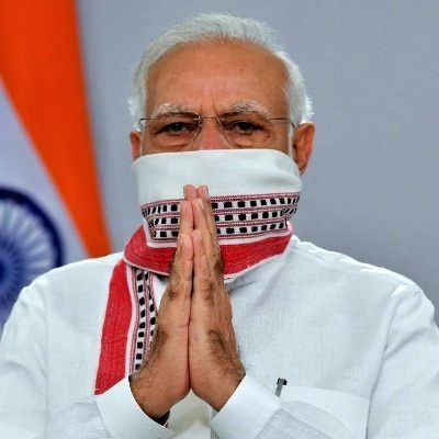 New Delhi, April 14 (IANS) Prime minister Narendra Modi on Tuesday changed his Facebook and Twitter Twitter display pictures, moments after addressing the nation that the lockdown will be extended till May 3. - Narendra Modi