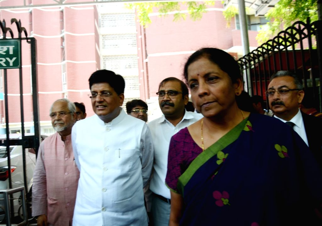 New Delhi, April 17 (IANS) Finance Minister Nirmala Sitharaman and Commerce Ministry Piyush Goyal applauded the Reserve Bank of India's (RBI) fresh slew of measures to ease liquidity and regulatory norms. (File Photo: IANS) - Nirmala Sitharaman