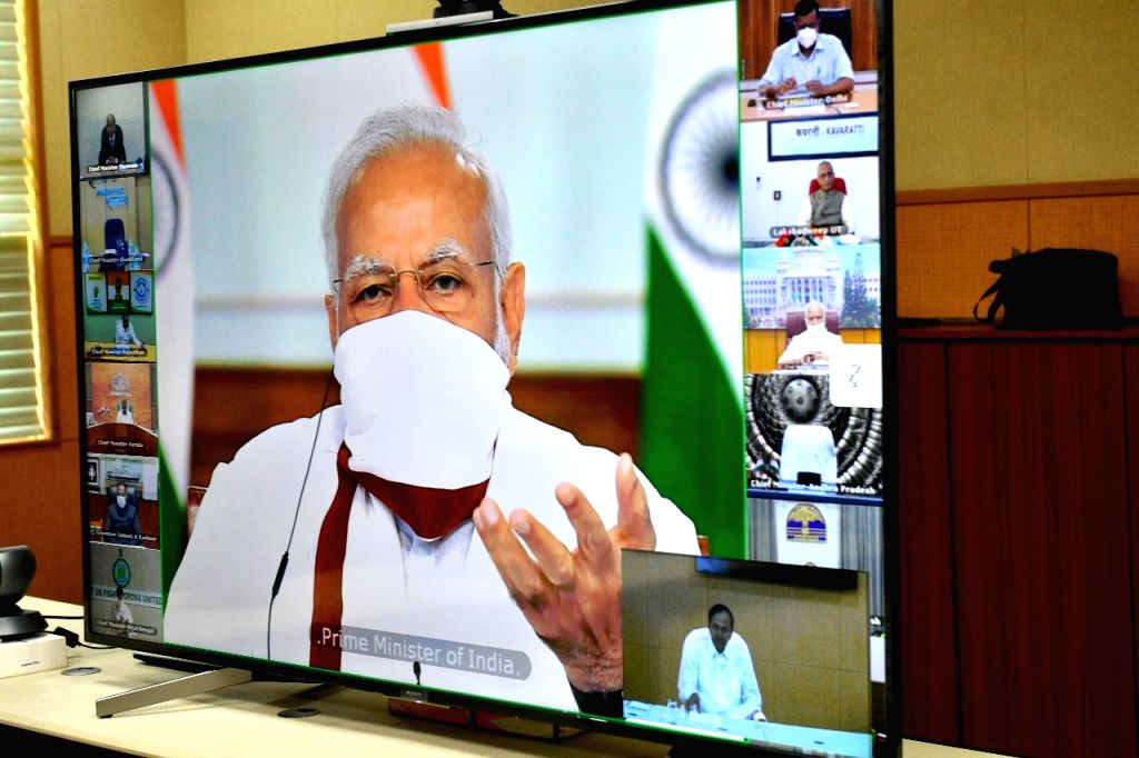 New Delhi, April 22 (IANS) Just six days before the extended lockdown ends, Prime Minister Narendra Modi will interact with Chief Ministers of all states and Union territories on April 27. - Narendra Modi