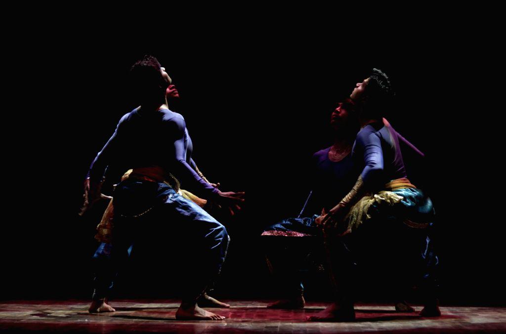 Artists perform during International Ancient Arts Festival at Siri Fort Auditorium in New Delhi, on Dec 4, 2014.