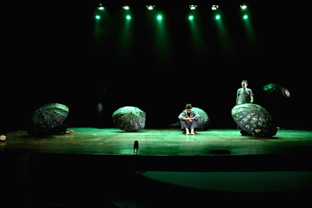 Artists perform during the 17th Bharat Rang Mahotsav in New Delhi, on Feb 3, 2015.