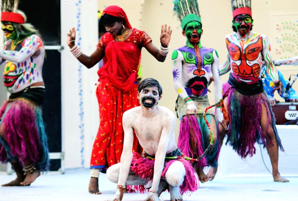 New Delhi: Artists perform during the Rashtriya Sanskriti Mahotsav organised by Ministry of Culture 2015 in New Delhi, on Nov 2, 2015.