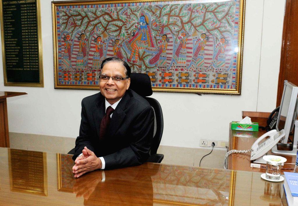 Arvind Panagariya assumes charge as the Vice-Chairman of NITI Aayog, in New Delhi on Jan 13, 2015.