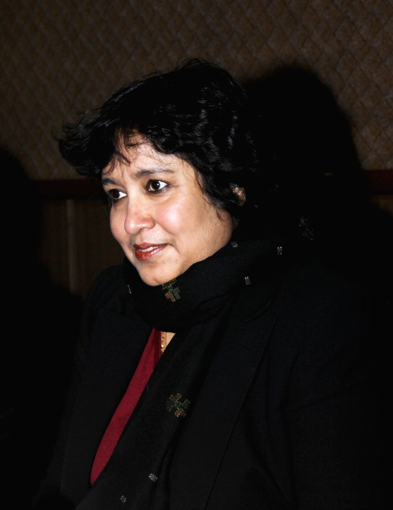 New Delhi : Bangladeshi author Taslima Nasrin during a press conference at International Film Festival in New Delhi on Dec 27, 2014.
