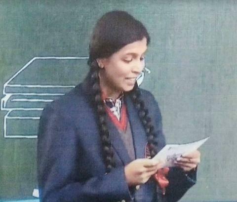 New Delhi/Bengaluru: Hridya S Nair, 11th class student of Kendriya Vidyalaya in DRDO campus in Bengaluru. (Photo: IANS)