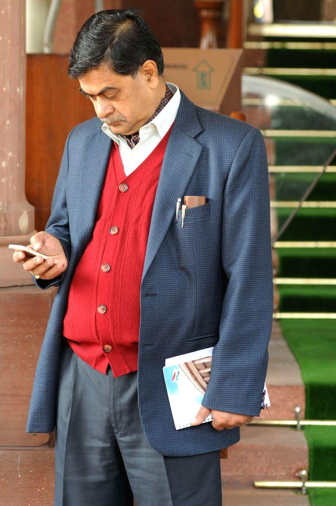BJP leader and former home secretary R.K. Singh at the Parliament in New Delhi, on Nov 27, 2014. - K. Singh