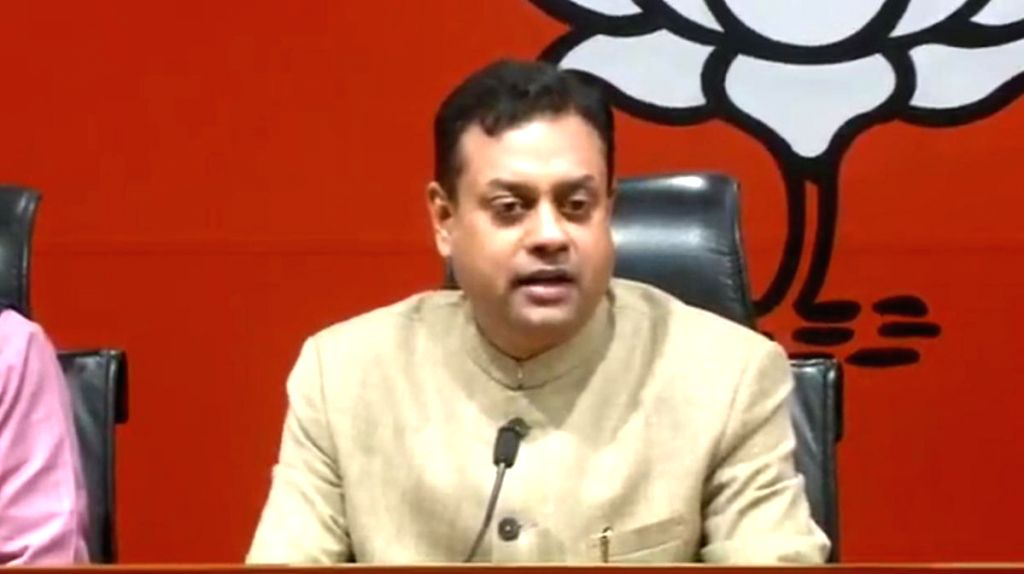 New Delhi: BJP leader Sambit Patra addresses a press conference, in New Delhi, on Feb 22, 2019. (Photo: IANS/BJP)