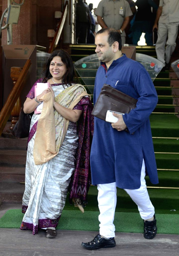 BJP MP Meenakshi Lekhi at the Parliament in New Delhi on March 19, 2015.