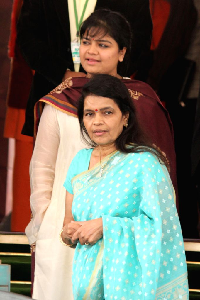 BJP MP Poonam Mahajan at the Parliament House in New Delhi, on Dec 5, 2014. - Poonam Mahajan