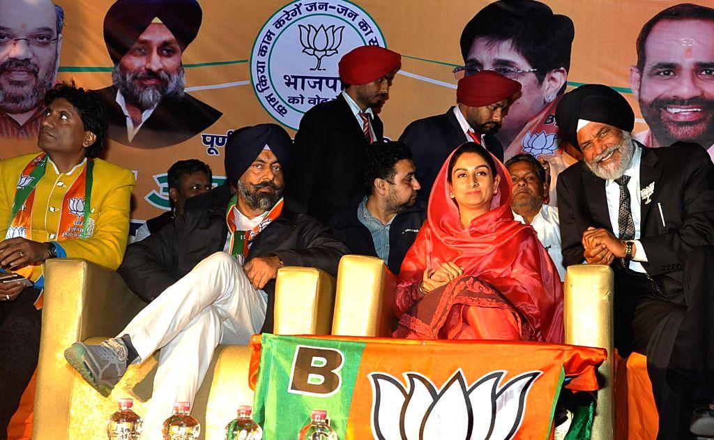 Central Food Processing Minister and Member Parliament  Bathinda Harsimrat Kaur Badal campagning in favor of Harmeet Singh Kalka SAD-BJP Candidate from Kalkaji Vidhansabha Constituency ...