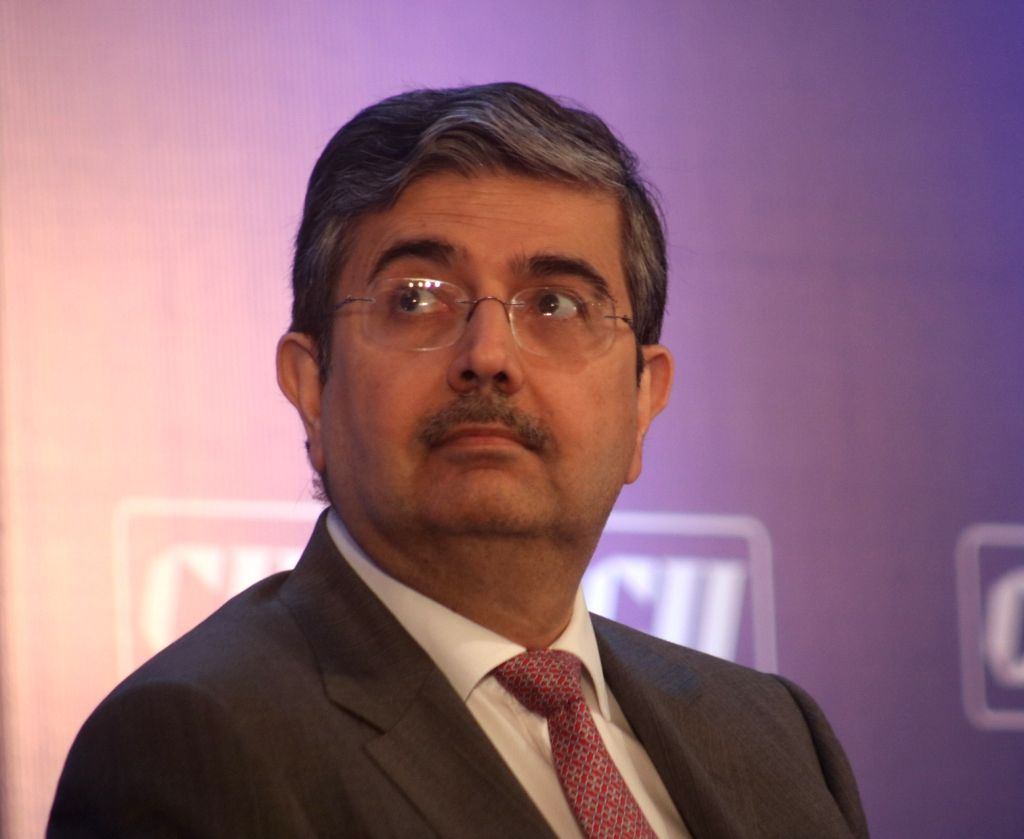 New Delhi: Confederation of Indian Industry (CII) President-Designate and Kotak Mahindra Bank Founder and CEO Uday Kotak during a press conference, in New Delhi on April 12, 2018. (Photo: IANS)