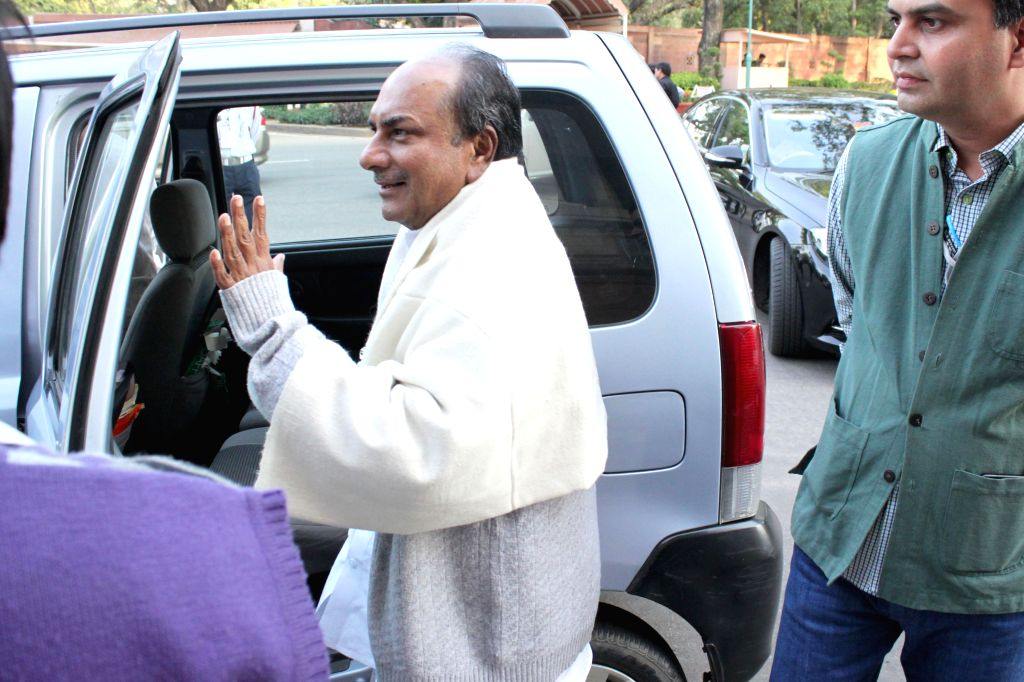 Congress leader A K Antony at the Parliament in New Delhi, on March 12, 2015.