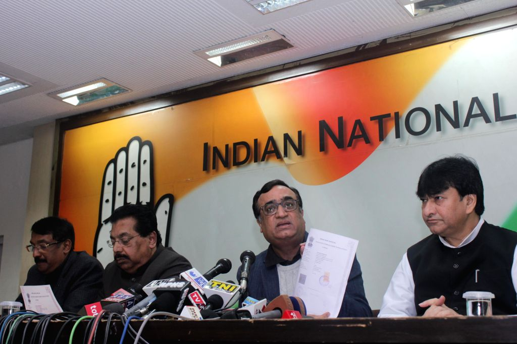 Congress leader Ajay Maken during a press conference at Congress party office in New Delhi on Jan. 17, 2014. (Photo : IANS )