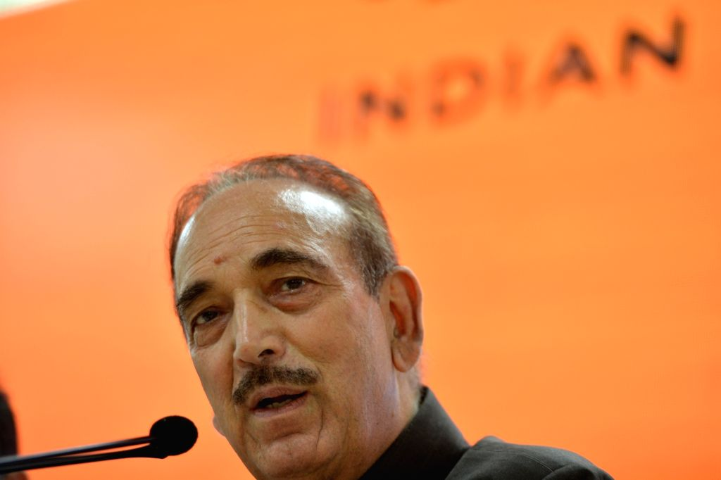 New Delhi: Congress leader Ghulam Nabi Azad addresses a press conference, at the party's headquarters in New Delhi on Sep 30, 2019. (Photo: IANS)