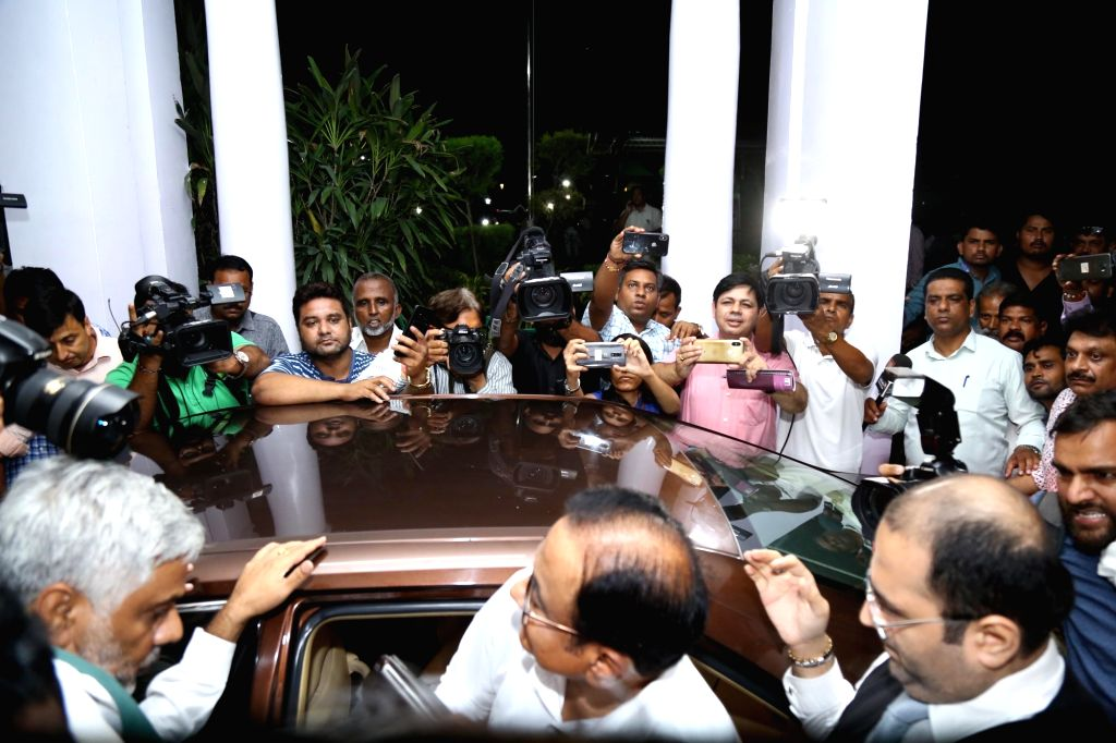 New Delhi: Congress leader P. Chidambaram arrives at party headquarters in New Delhi on Aug 21, 2019. (Photo: IANS)