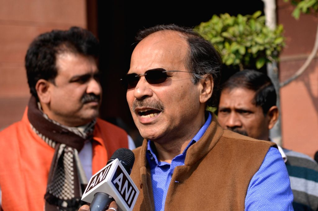 New Delhi: Congress MP Adhir Ranjan Chowdhury at Parliament in New Delhi on Dec 21, 2018. (Photo: IANS)