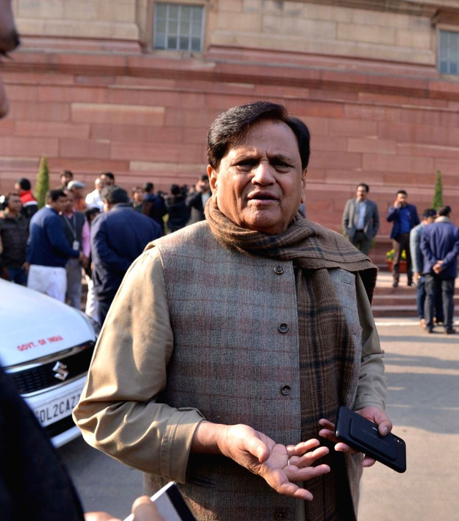 New Delhi: Congress MP Ahmed Patel at the winter session of Parliament in New Delhi, on Dec 31, 2018. (Photo: IANS) - Ahmed Patel