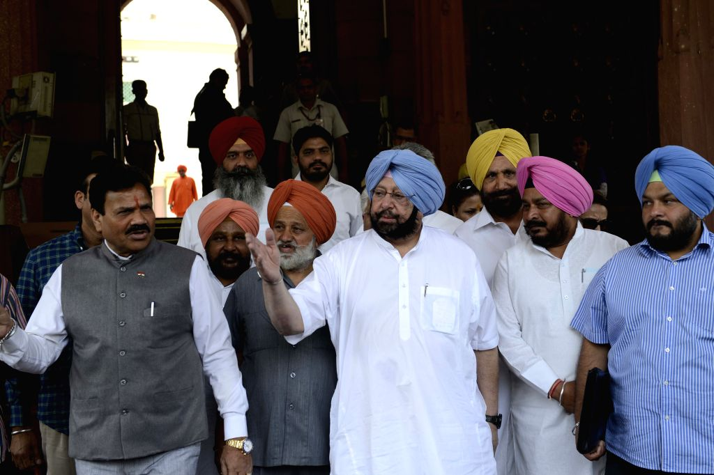Congress MP Capt Amarinder Singh at the Parliament in New Delhi on May 5, 2015. - Capt Amarinder Singh