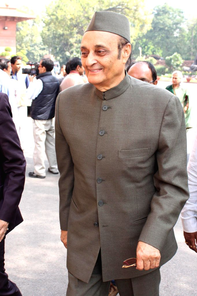 Congress MP Dr Karan Singh at the Parliament in New Delhi, on March 11, 2015. - Karan Singh