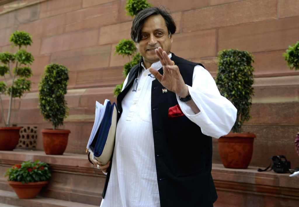 Congress MP from Thiruvananthapuram Shashi Tharoor at the Parliament during the budget session in New Delhi, on March 4, 2015. - Shashi Tharoor