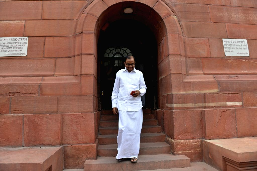 New Delhi: Congress MP P. Chidambaram at Parliament, in New Delhi on July 25, 2019. (Photo: IANS)