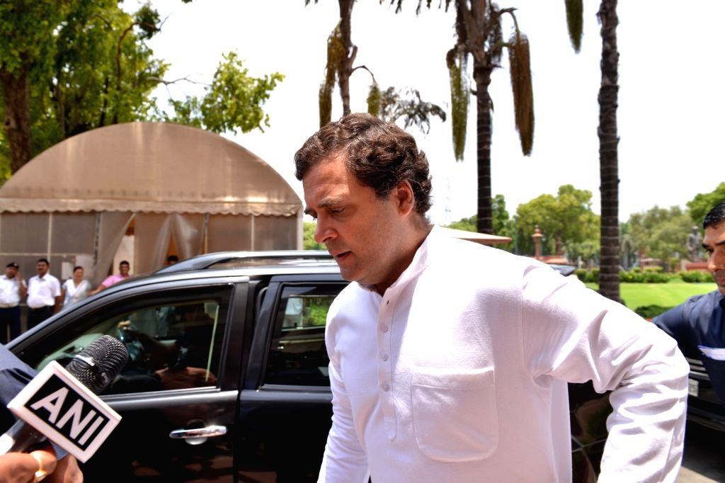 New Delhi: Congress MP Rahul Gandhi arrives at Parliament, in New Delhi on July 3, 2019. (Photo: IANS) - Rahul Gandhi