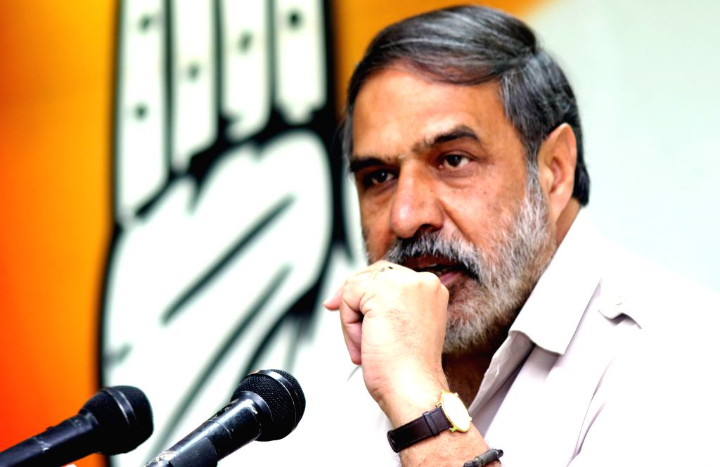 : New Delhi: Congress spokesman Anand Sharma during a press conference in New Delhi, on April 17, 2015. (Photo: IANS). - Anand Sharma and The Narendra Modi