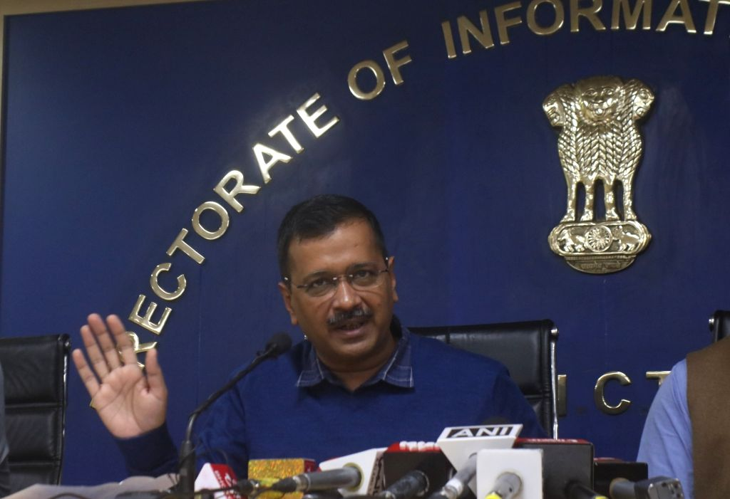 New Delhi: Delhi Chief Chief Minister Arvind Kejriwal addressing a press conference to announce Chief Minister Advocate Welfare Fund in New Delhi on Nov. 29, 2019. (Photo: IANS) - Arvind Kejriwal