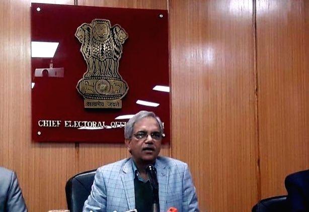 New Delhi: Delhi Chief Election Officer Dr. Ranbir Singh addresses a press conference at Kashmere Gate in New Delhi on Jan 15, 2020. (Photo: Sanjeev Kumar Singh Chauhan/IANS) - Ranbir Singh