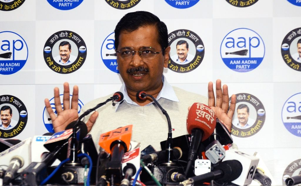 New Delhi: Delhi Chief Minister and Aam Aadmi Party chief Arvind Kejriwal addresses a press conference in New Delhi on Feb 5, 2020. (Photo: IANS) - Arvind Kejriwal