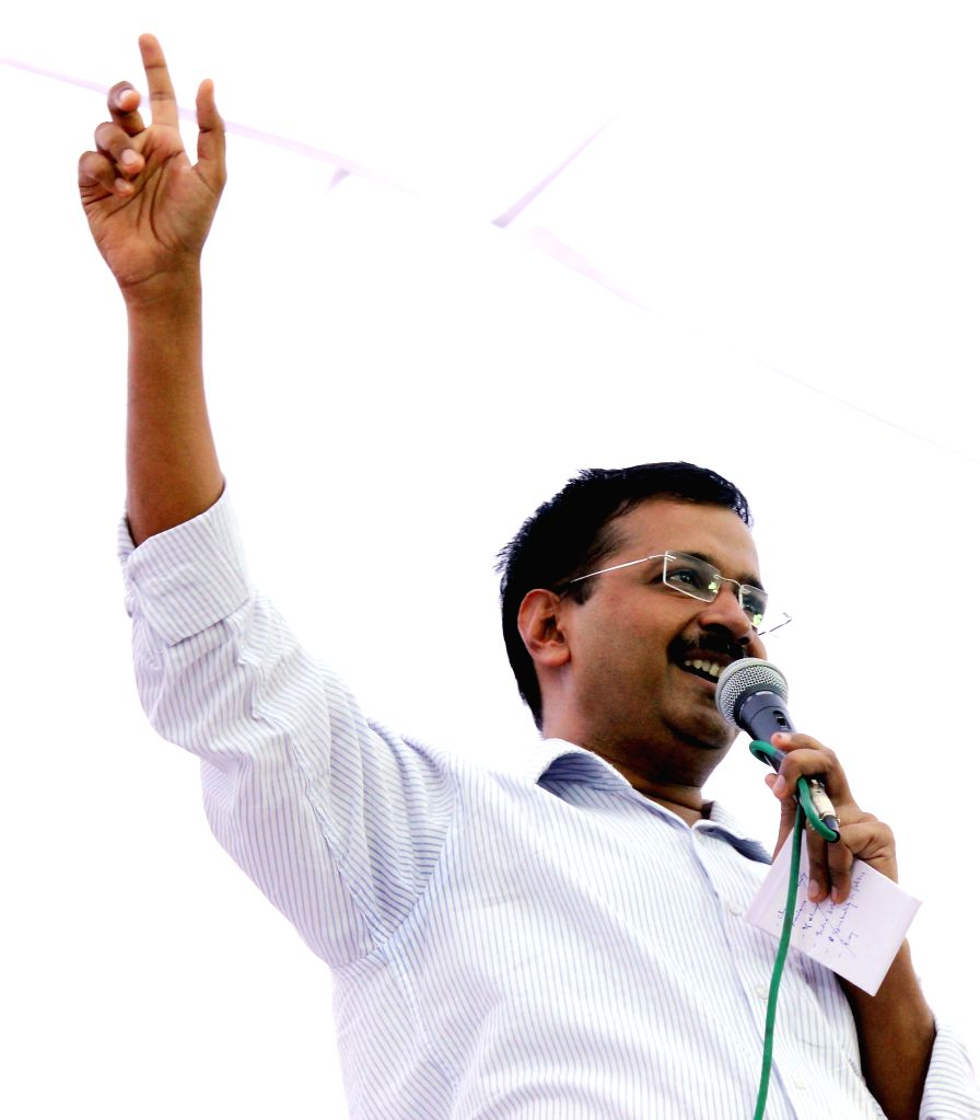 Delhi Chief Minister and AAP leader Arvind Kejriwal during a May Day programme organised at Shalimar Bagh of Delhi on May 1, 2015. - Arvind Kejriwal