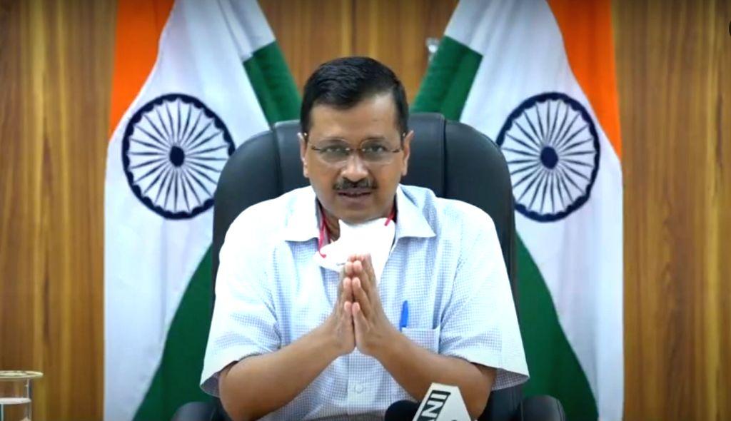 New Delhi: Delhi Chief Minister Arvind Kejriwal addresses a press conference in New Delhi on June 10, 2020. (Photo: IANS) - Arvind Kejriwal