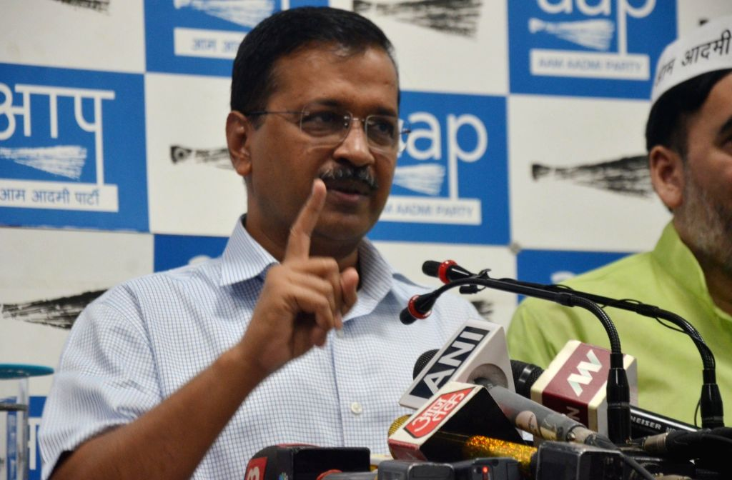 New Delhi: Delhi Chief Minister Arvind Kejriwal addresses a press conference in New Delhi on Oct 16, 2019. (Photo: IANS) - Arvind Kejriwal