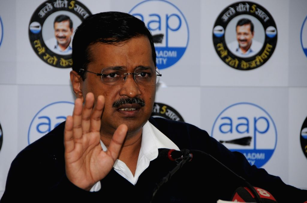 New Delhi: Delhi Chief Minister Arvind Kejriwal addresses a press conference in New Delhi on Jan 9, 2020. (Photo: IANS) - Arvind Kejriwal