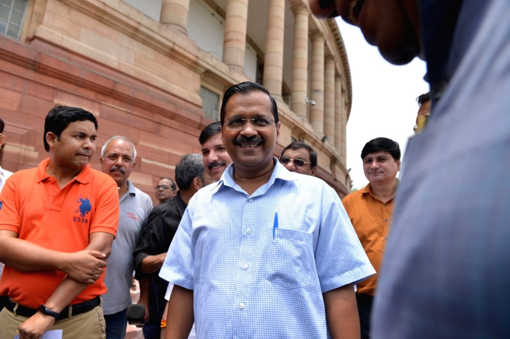 New Delhi: Delhi Chief Minister Arvind Kejriwal at Parliament, in New Delhi on June 21, 2019. (Photo: IANS) - Arvind Kejriwal