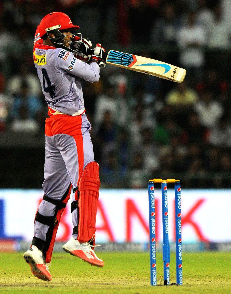 New Delhi:Delhi Daredevils batsman Mayank Agarwal in action during an IPL 2015 match between Delhi Daredevils and Kings XI Punjab at the Feroz Shah Kotla stadium in New Delhi, on May 1, 2015. - Mayank Agarwal and Feroz Shah Kotla