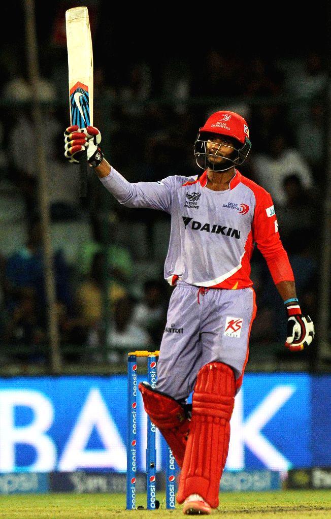 New Delhi:Delhi Daredevils batsman Shreyas Iyer in action during an IPL 2015 match between Delhi Daredevils and Kings XI Punjab at the Feroz Shah Kotla stadium in New Delhi, on May 1, 2015. - Shreyas Iyer and Feroz Shah Kotla
