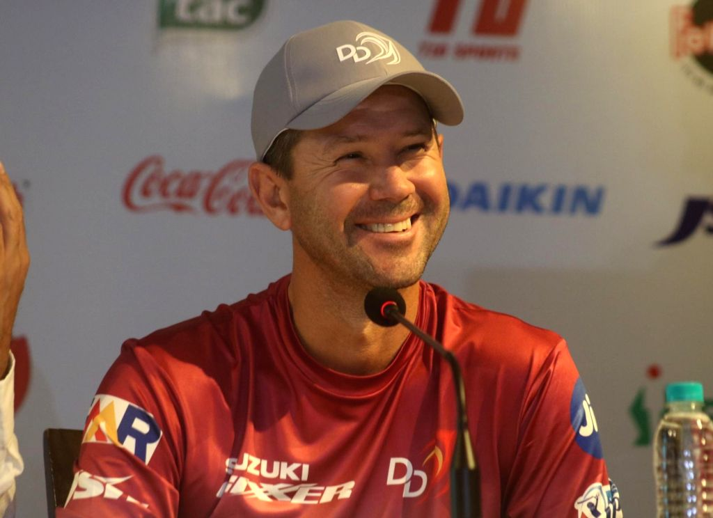 New Delhi: Delhi Daredevils head coach Ricky Ponting during a press conference at the launch of the team's anthem ahead of IPL 2018, in New Delhi on April 5, 2018. (Photo: IANS)