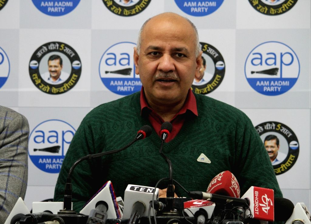 New Delhi: Delhi Deputy Chief Minister and AAP leader Manish Sisodia addresses a press conference, in New Delhi on Jan 24, 2020. (Photo: IANS)