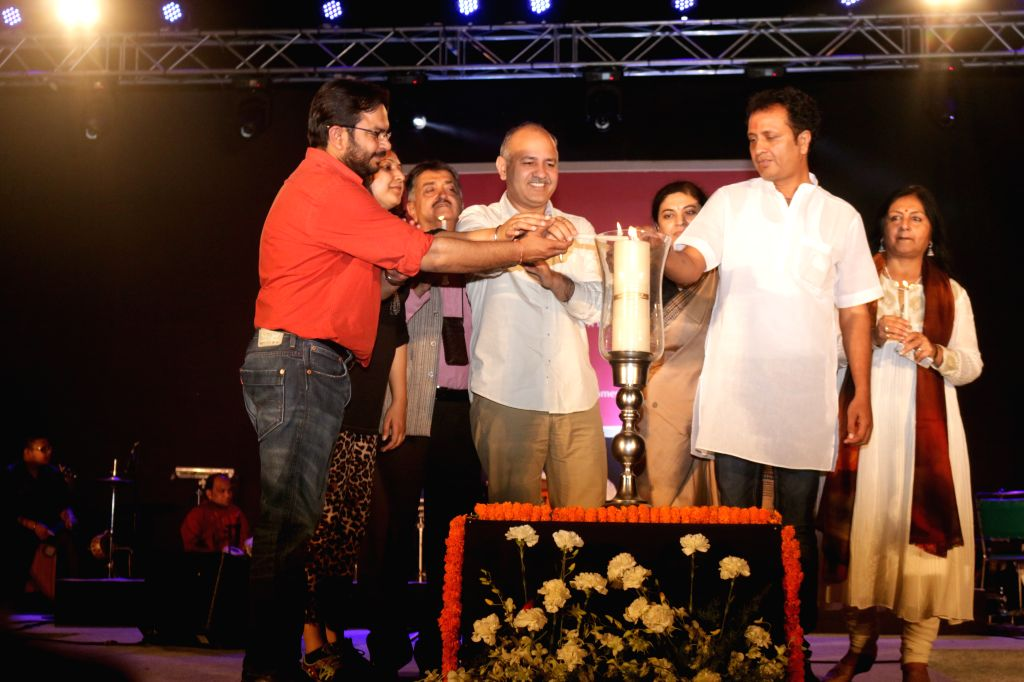 Delhi Deputy Chief Minister at the inauguration of Sufi Food Fest at Chanakyapuri in New Delhi, on March 21, 2015.